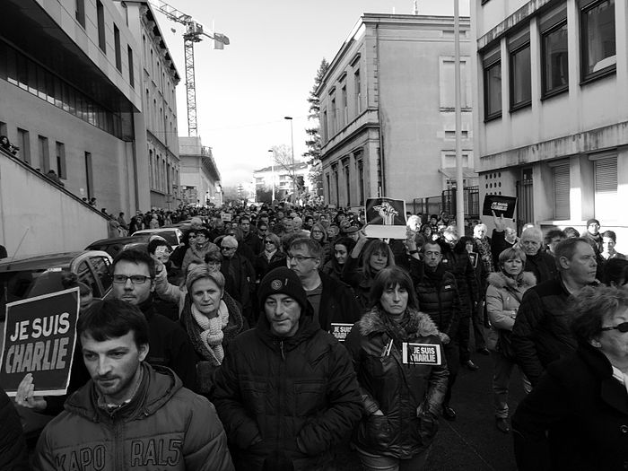 Bourg-en-Bresse rally in support of the victims of the 2015 Charlie Hebdo shooting, 11 January 2015 (2).JPG