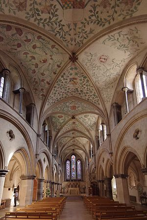 Lambert Barnard - Thomas West commissioned Lambert Barnard, to paint the ceiling of the nave, of Boxgrove Priory, with the arms and crests of his own and his wife's families, entwined with flowers and foliage.