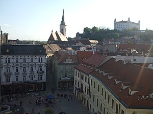 Old Town Hall (Bratislava) - Image: Bratislava Old Town Hall View SW