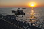 Brazilian helicopters conduct deck landing qualifications aboard PCU America 140804-N-LQ799-067.jpg