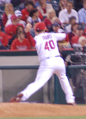 Brian Fuentes - Fuentes pitching for the Angels