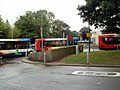 Brief bus jam in Cwmbran bus station - geograph.org.uk - 2555407.jpg