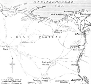 Action of Agagia - Image: British military operations, Western Desert, 1914 1918