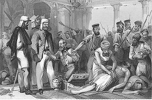 British soldiers looting Qaisar Bagh Lucknow.jpg