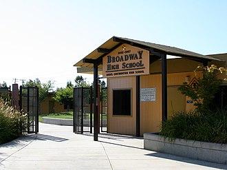 Broadway High School - Image: Broadway High School entrance