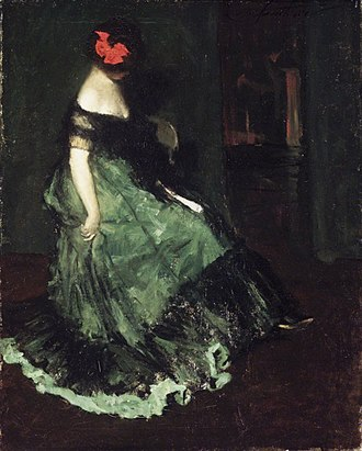 Charles Webster Hawthorne - The Red Bow by Charles W. Hawthorne. Brooklyn Museum