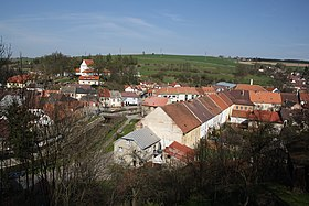 Brtnice view from castle gardens in Brtnice, Jihlava District.jpg