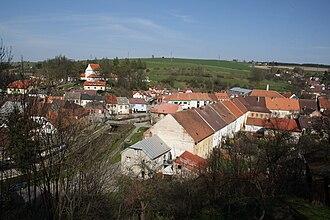 Brtnice - View from castle gardens towards Brtnice