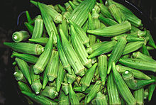Блюда с овощами, фаршированные овощи  и др. - Страница 9 220px-Bucket_of_raw_okra_pods