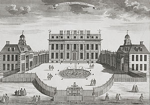Buckingham Palace as it appeared in the 17th c...