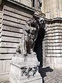 Budapest. Castle Hill, King's Palace. Lion Court, Stone Lion Statue.JPG