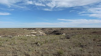 Texas Panhandle - A canyon formed by Tierra Blanca Creek