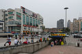 Buildings and the square in front of Hangzhounan Railway Station 20120529 1.jpg