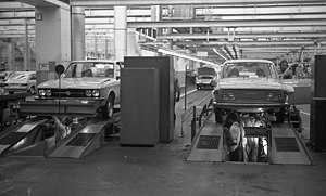 Volkswagen K70 - VW K70 and VW 412 being produced at Salzgitter.
