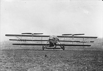 Henry Berliner - The prototype with a triple set of wings