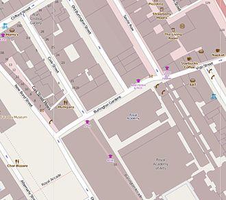 Burlington Gardens - The immediate vicinity of Burlington Gardens