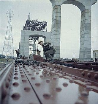 Burlington Bay James N. Allan Skyway - Construction of the skyway in 1957.