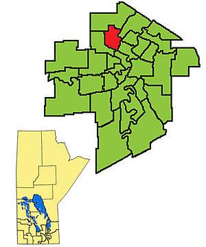Burrows (electoral district) - Image: Burrows ED2011