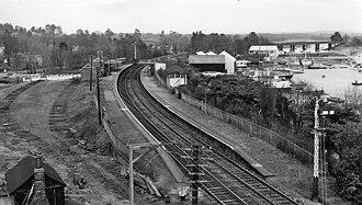 Bursledon railway station - The station in 1963