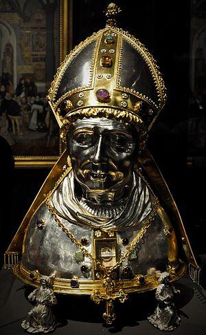 Treasury of St. Vitus Cathedral - Reliquary bust of St. Adalbert of Prague, c. 1500