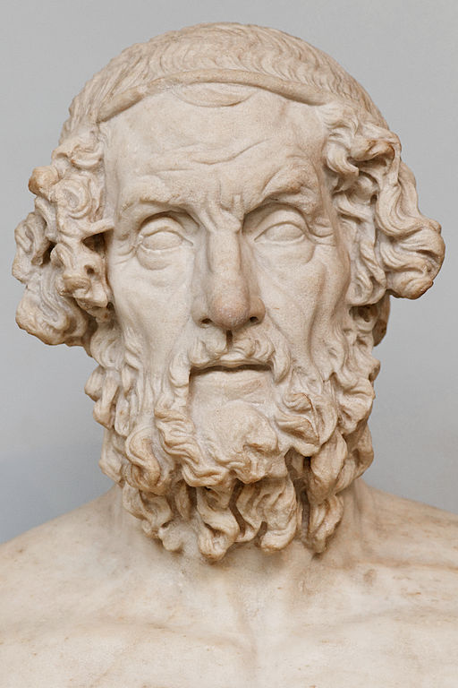 Marble bust of Homer (c. 1st century BC) - Ancient Greek Medicine