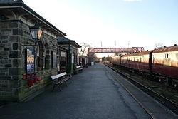 Butterley railway station, Derbyshire, England -platform-19Jan2014 (2).jpg
