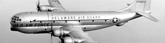 Delaware Air National Guard - A 166th Military Airlift Group C-97G in the 1960s.