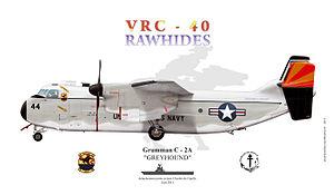 """VRC-40 - C-2a Greyhound VRC 40 """"Rawhides"""""""