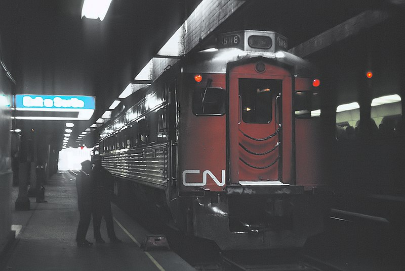 File:CN Train 990, one RDC, Toronto to Stouffville -- 10 Photos (35617846051).jpg