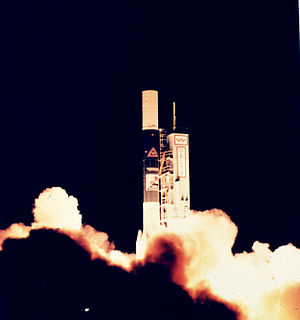 Cosmic Background Explorer - Launch of the COBE spacecraft November 18, 1989.