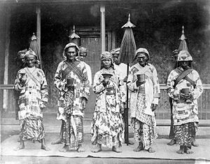 Tenggerese people - Tengger priests during the Dutch East Indies era.