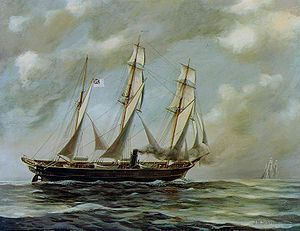 Alabama Claims - Painting of the CSS Alabama