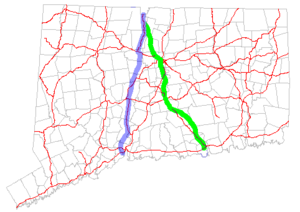 Connecticut Route 10 - Image: CT 10 realignment