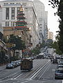 Cable Car 52 on California Street, next to Chinatown.JPG