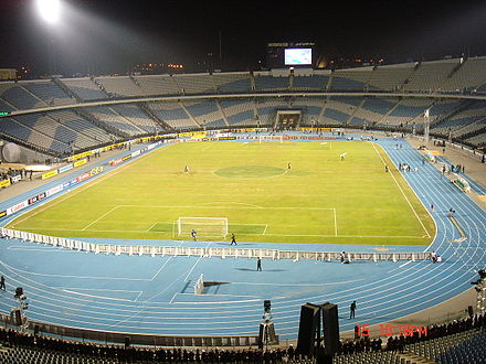 Cairo International Stadium with 75,100 seats Cairo International Stadium.jpg