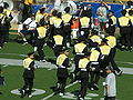 Cal Band returning to seats after halftime at UCLA at Cal 10-25-08 2.JPG
