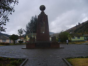 Ciudad Mitad del Mundo - Older monument to the equator in Calacalí (2008)
