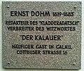 Calau Witzerundweg Tafel Cottbuser Straße 16 Ernst Dohm.jpg