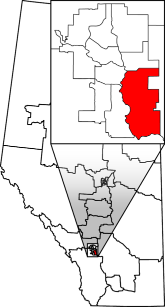 Calgary Shepard - Calgary Shepard in relation to other Alberta federal electoral districts as of the 2013 Representation Order.
