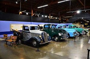 California Automobile Museum - Old trucks in California Automobile Museum