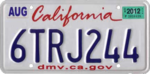California license plate, August 2012.png