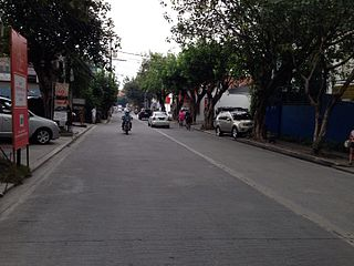 Nicanor Garcia Street road in the Philippines