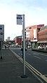 Camberley Pembroke Broadway bus stand pole.JPG