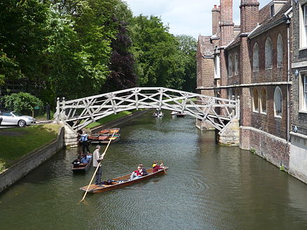 The Mathematical Bridge over the River Cam (at Queens' College) Cambridge uni math bridge.JPG