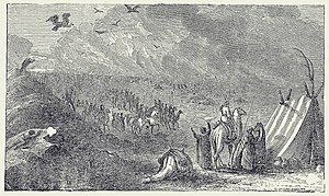 Cambyses II - The lost army of Cambyses II according to a 19th-century engraving