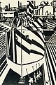 Camouflaged ships in dry dock (Wadsworth, 1918, woodcut) - mono version of oil painting.jpg