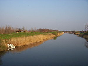 Bačka - The Little Bačka Canal, part of the Danube–Tisa–Danube Canal system, near the village of Rumenka in the South Bačka District