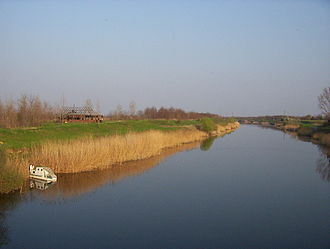Pannonian Basin - The Danube-Tisa-Danube Canal near the village of Rumenka, close to Novi Sad