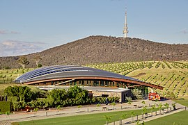 Canberra National Arboretum with Telstra Tower 2, Canberra ACT.jpg
