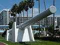 Cannon from Japanese battleship Mutsu, Museum of Maritime Science.JPG
